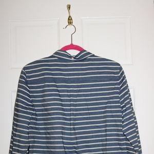 Striped denim women's button down